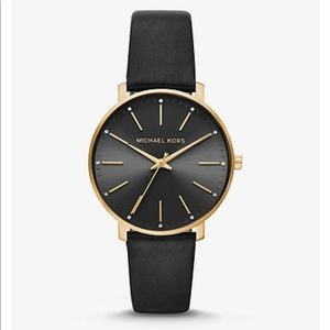 Piper Gold-Tone Leather Watch